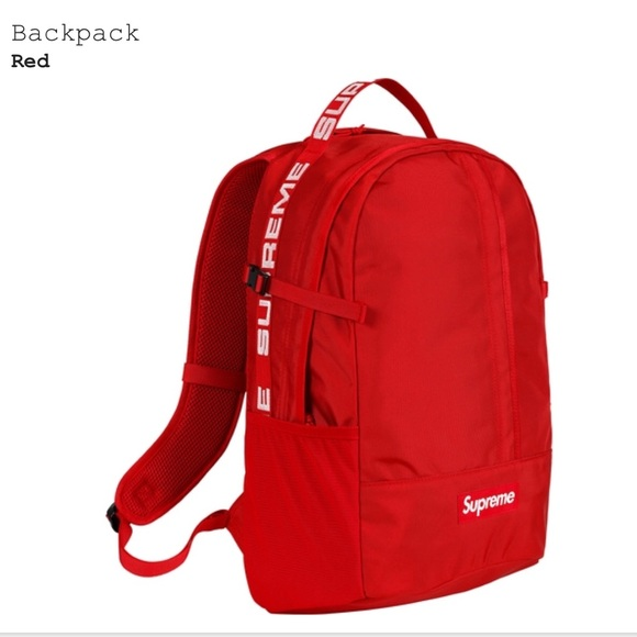 aba13aec8 AUTHENTIC SUPREME red box logo backpack NWT